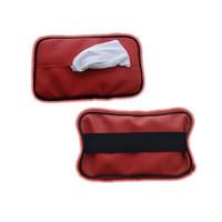 MERAH Car Tissue holder Penjepit Tisu Mobil Tempat tissue Kotak Tisu