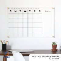Monthly Planner Akrilik | Wall Planner Dinding | Schedule Board Jadwal