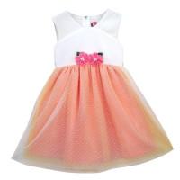 Two Mix Dress Bayi Cewek Fashion - Baju Bayi Perempuan 0-3 tahun 4040 - Pink, M