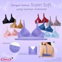 Bra / BH Sorex Wanita Tanpa Kawat Motif Polos Super Soft Sorex 17238