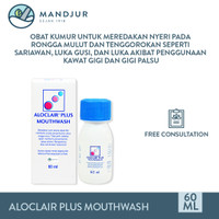 Aloclair Plus Mouthwash 60 mL - Obat Kumur Sariawan dan Luka Mulut