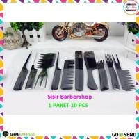 Sisir Rambut 10 Set / Alat Cukur Rambut / Barber Shop / Paket Sisir