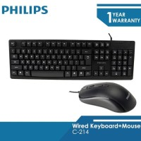Philips Wired Keyboard+Mouse Combo C214
