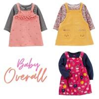 Baju Dress Kodok Overall Bayi Baby Perempuan Carter's 2 in 1 BG2014