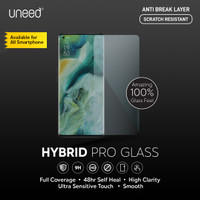 Uneed Hybrid Pro Anti Break Screen Protector Handphone Full Cover - Front 1pcs