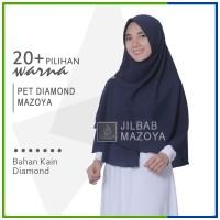 Jilbab Pet Diamond Mazoya Instan Bisa 2 Model