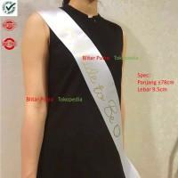 White - Sash / selempang Bride to be satin / bridal shower murah