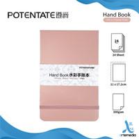 POTENTATE Hand Book Watercolor 110X172mm 300gsm Kertas Buku Cat Air - PINK