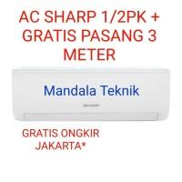 Ac Sharp AH-A5UCY (1/2pk)+GRATIS pasang 3 meter+FREE ONGKIR Jakarta - Putih