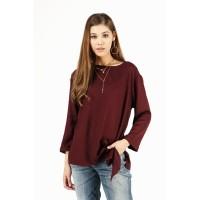 Kemeja Lengan Panjang / Nebula Maroon Shirt 23427T9MA - Bodytalk