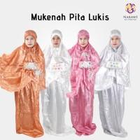 Mukena Parasut Parasit Pita Lukis Jumbo/Oleh Oleh Haji & Umroh