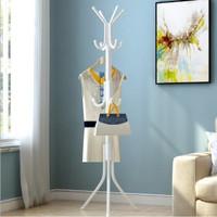 Standing Hanger Rak Gantung Topi Jaket Baju Tas RM008 12 Hook