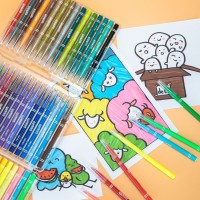 Deli felt Pen Lembut,48 Warna ,Mudah Dibersihkan Dengan Air 70687
