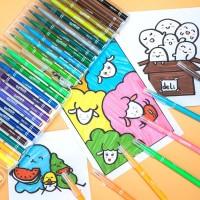 Deli felt Pen Lembut,36 Warna ,Mudah Dibersihkan Dengan Air 70686