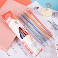 Deli Pensil Plastik HB 12PCS/Kotak,Bentuk Segitiga EU50000