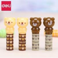 Deli Tutup Pensil 4PCS/pack, Design Kartun,Plastik Kualitas Tinggi 506