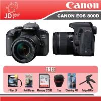 Canon EOS 800D Kit 18-55mm IS STM BLACK PAKET LENGKAP TERMURAH