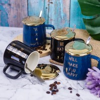 MUG KERAMIK QUOTES HAPPY GELAS KOPI PREMIUM QUALITY