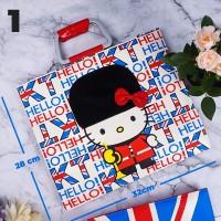 Tas Handbag & Slempang Bahan Premium Motif Hello Kitty / Tas Sekolah