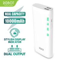 POWERBANK ROBOT RT130 ORIGINAL 10000 mAH DUAL USB CHARGER POWER BANK