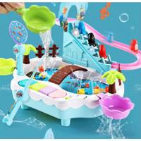 Mainan Anak Pancing Ikan & Pinguin Hero, Hadiah ulang tahun anak - Biru Muda