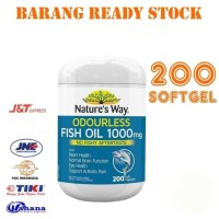 Nature's Way Odourless Fish Oil 1000mg 200 Capsul SOFTGEL