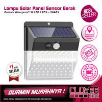 Lampu Solar Panel Sensor Gerak Outdoor Waterproof 136 LED 1 PCS