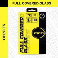 COSTANZA CR7 OPPO F5 TEMPERED GLASS FULL COVERED 2.5D - Hitam