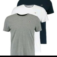 tshirt Baju Kaos Hollister Bordir Logo - High Quality