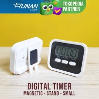 Timer Dapur Digital Timer Masak Digital Baking Timer Magnet Clip Stand