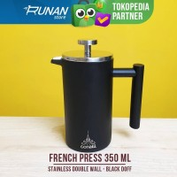 French Press Stainless 350ml Hitam Conalli Coffee Plunger Double Wall