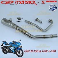 Knalpot Racing Motor CLD Monster X-Series GSX R150 & GSX S150 Full set