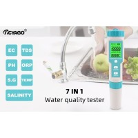 Water 7 in 1 Salinity ORP S.G PH TDS EC Temp Tester Meter Salt SG