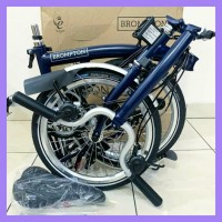 Ready Sepeda Lipat Brompton H6L 6 Speed (Tempest Blue) original new