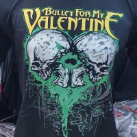 kaos band metal bullet for my valentine semi combed 30s