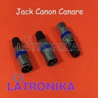 Jack Canon Canare XLR Plug Male Microphone Connector Konektor Mic