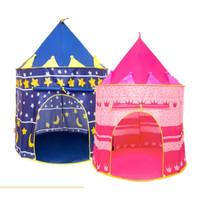 Tenda Anak Model Castle Kado Mainan Kastil Castle Kids Portable AN8109 - Merah Muda