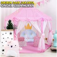 Tenda Anak Princess Castle Jumbo Mainan Anak Outdoor Portable AN8111 - Merah Muda
