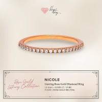"Cincin Listring Rose Gold Diamond Nicole"" BlingBling Jewellery"