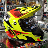 Helm Mds Superpro#2 Motif Yellow Red/Double Visor/Full Face