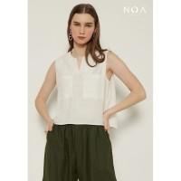 NOA YUKA Crop Top Blouse - White