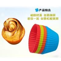 Cetakan Cupcake Silikon Warna Warni 6 Pcs Kualitas Premium Import