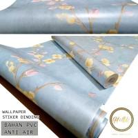 Home Wallpaper Sticker Dinding Sakura Biru - 45cm x 10 m