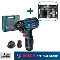 Bosch Obeng Impact Baterai dengan Mata Obeng 43 pcs GDR 120-LI GEN3