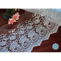Kain Renda Bordir Tile - Bunga Besar - 13814 (L:-/+ 20 cm)