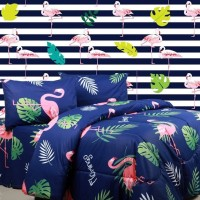Sierra bed cover dan sprei flamingo x retro 120x200x20