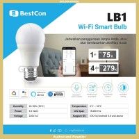 Broadlink Bestcon LB1 Wifi Smart Light Bulb Lampu Bohlam Pintar - 1 Bohlam