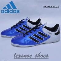 Sepatu futsal adidas copa mundial team astro blue