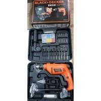 Mesin bor tembok 13 mm Hammer Drill 550W - Black Decker onderdil