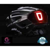 Helm Helem Sepeda Lipat Gunung Balap Shockproof LED Water resistant